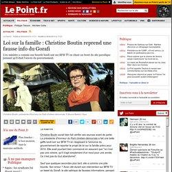 Loi sur la famille : Christine Boutin reprend une fausse info du Gorafi