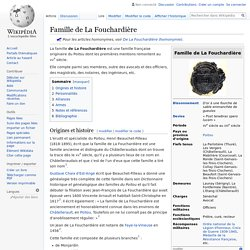 Famille de La Fouchardière