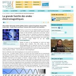 La grande famille des ondes électromagnétiques