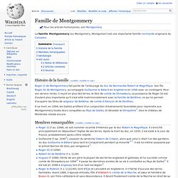 Famille de Montgommery
