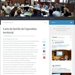 Carto de famille de l'opendata territorial – Opendata locale