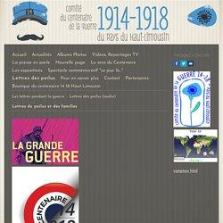 Lettres de poilus et des familles - Site du centenaire 14-18 en Haut Limousin