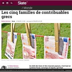 Les cinq familles de contribuables grecs