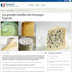 Les grandes familles des fromages français: informations et cartes
