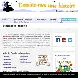 Jeux des 7 familles gratuits à imprimer sur les animaux, la nourriture