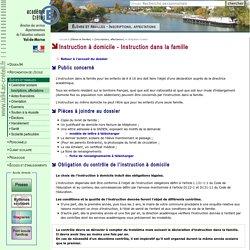 DSDEN du Val-de-Marne- Élèves et familles - Instruction à domicile