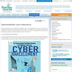 Familles Rurales :Cyber-harcèlement: pas si virtuel que ça