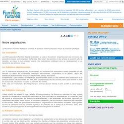 Familles Rurales :Notre organisation
