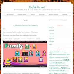 Family Archivos - English Corner!