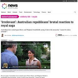 Royal family: Australia's brutal reaction to royal split