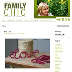 Yarn Love | Family Chic