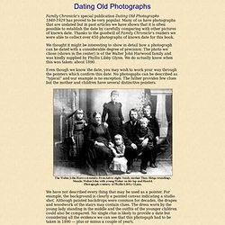 Family Chronicle - Dating Old Photographs