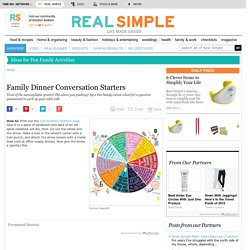 Family Dinner Conversation Starters - Real Simple