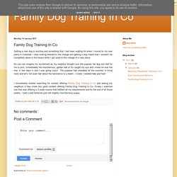 Family Dog Training In Co: Family Dog Training In Co