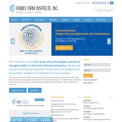 Collaboration Guidelines - Family Firm Institute (FFI) - The Int