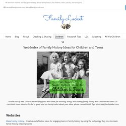 Family History for Children and Teens – Family Locket