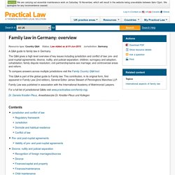Family law in Germany: overview