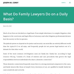 What Do Family Lawyers Do on a Daily Basis?