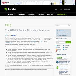 The HTML5 Family: Microdata Overview