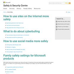 Family Safety | Microsoft Safety & Security Centre