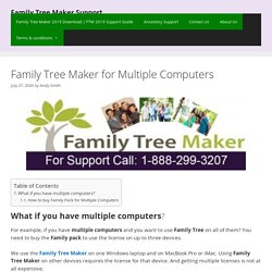 Family Tree for Multiple Computers - Family Tree Maker
