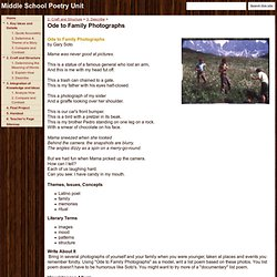 Ode to Family Photographs - Middle School Poetry Unit
