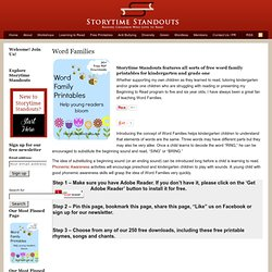 Word Family Printables - Free Flip Books and Words with Pictures