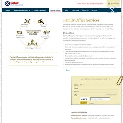 Family Office Services in india - Kotak Wealth Management
