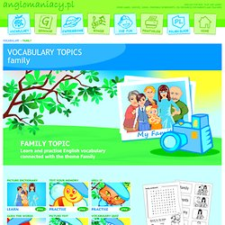 Family Topic for ESL Kids
