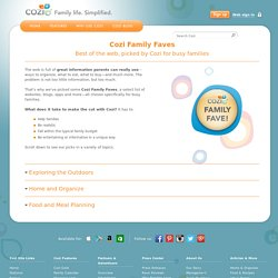 Family Fave Websites, Best Sites for Families Chosen by Cozi