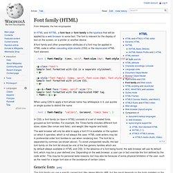 Font family (HTML)