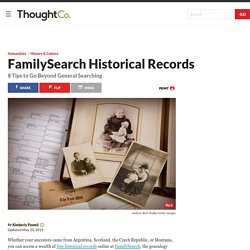 How to Use FamilySearch Historical Records