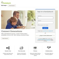 FamilySearch: Sign In to FamilySearch