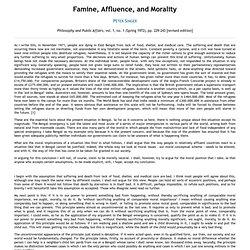 peter singer famine affluence and morality mla citation