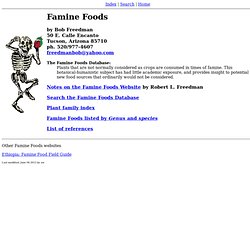 Famine Food Homepage