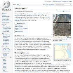 Famine Stela - Wikipedia