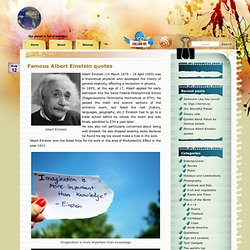 Famous Albert Einstein quotes | Our Funny Planet