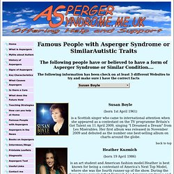 Famous People With Asperger Syndrome