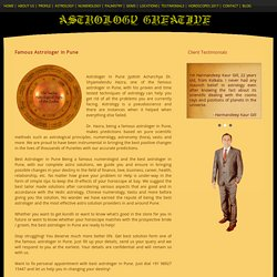Good and Famous Astrologer in Pune - Dr. S. Hazra