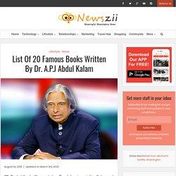 List Of 20 Famous Books Written By Dr. A.P.J Abdul Kalam