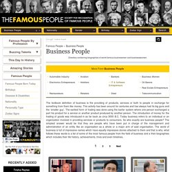 Famous Business People - World Famous Business People