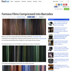 Famous Films Compressed into Barcodes