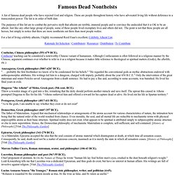 Famous Dead Nontheists