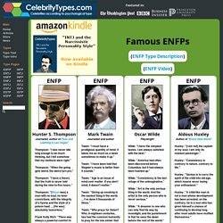 Famous ENFPs