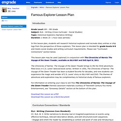Famous Explorer Lesson Plan