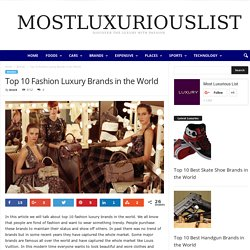 Most Famous Fashion Brands