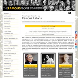 Famous Italians - People From Italy