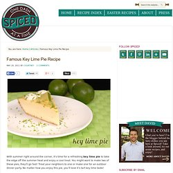 Famous Key Lime Pie Recipe