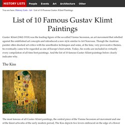 List of 10 Famous Gustav Klimt Paintings - History Lists