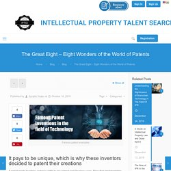Famous Patent Invention Examples: How Patents changed the world